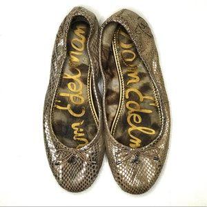 Sam Edelman Felicia Snake Embossed Flat Ballet